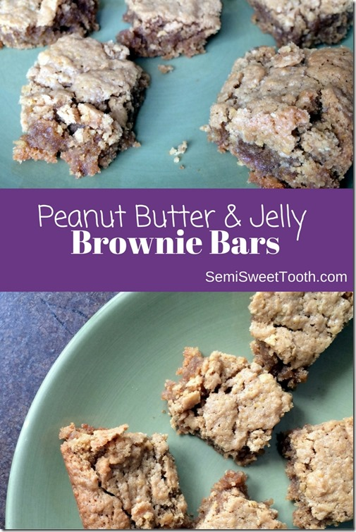 Peanut Butter & Jelly Brownie Bars