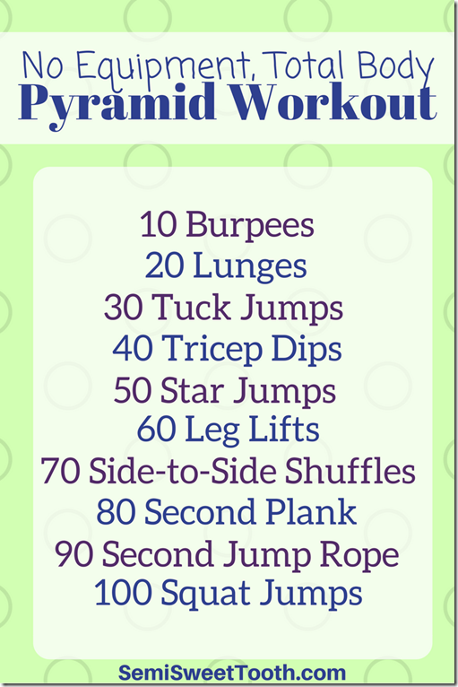 No Equipment, Total Body Pyramid Workout